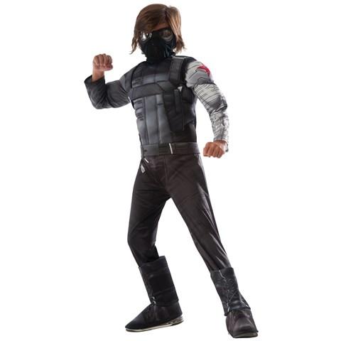 Captain America Winter Soldier - Deluxe Winter Soldier Kids Costume