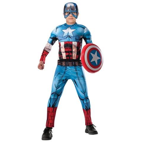 Avengers Assemble Deluxe Captain America Child Costume