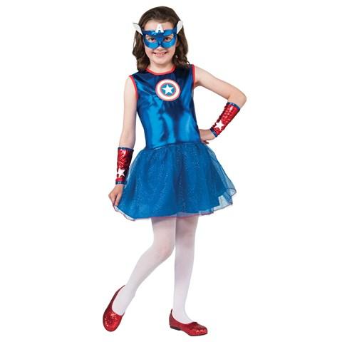 Marvel Captain America Girl Child Costume