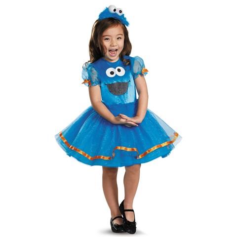 Sesame Street Deluxe Cookie Monster Tutu Costume For Toddler Girls