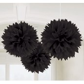 Black Fluffy Decorations (3)
