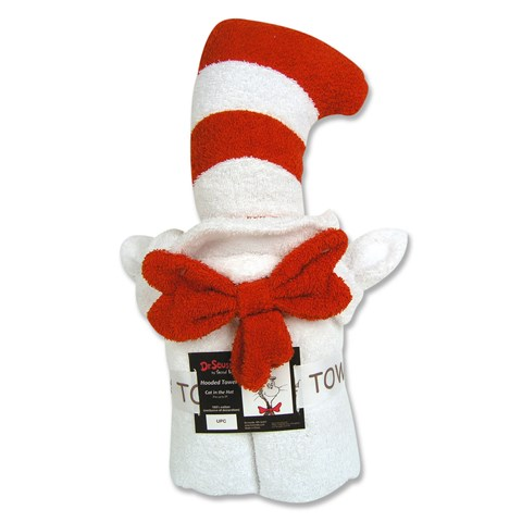 Dr. Seuss Cat in the Hat Hooded Towel