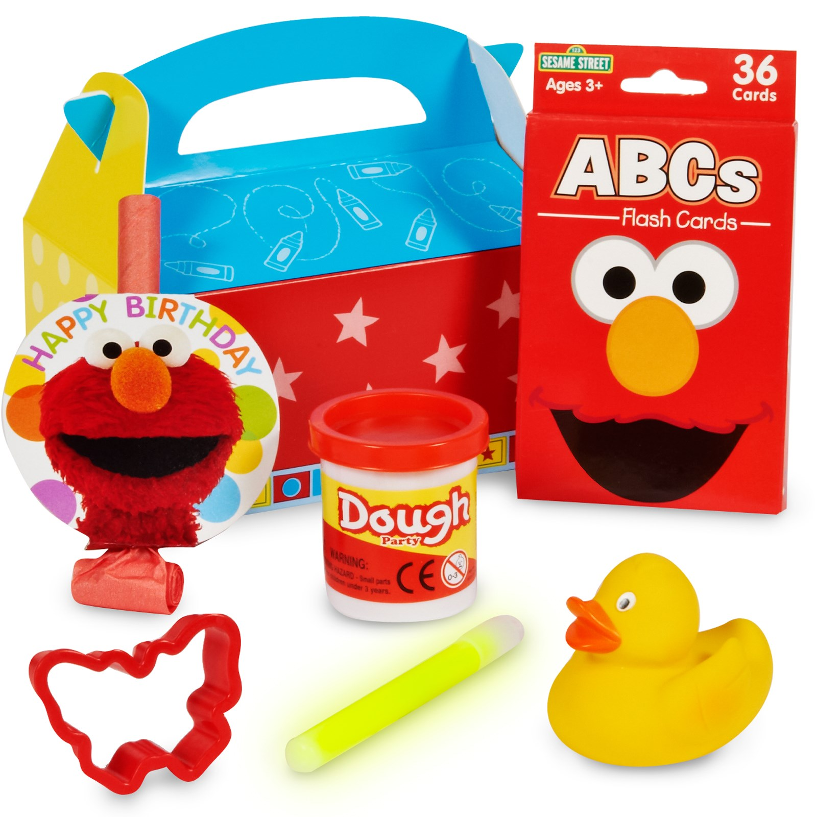 Sesame Street Elmo Party - Filled Party Favor Box for your Elmo Party Games for Toddlers