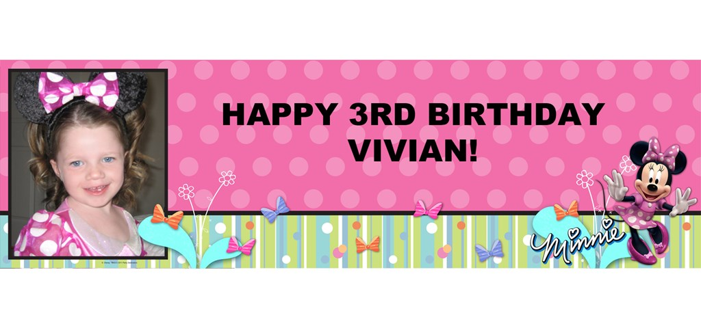 Disney Minnie Bow-tique Personalized Photo Banner
