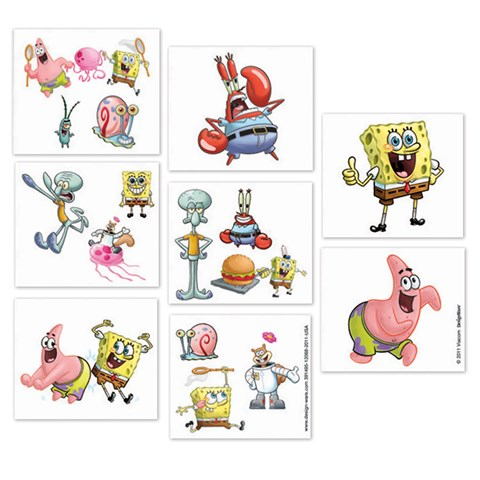 Spongebob Squarepants Tattoos