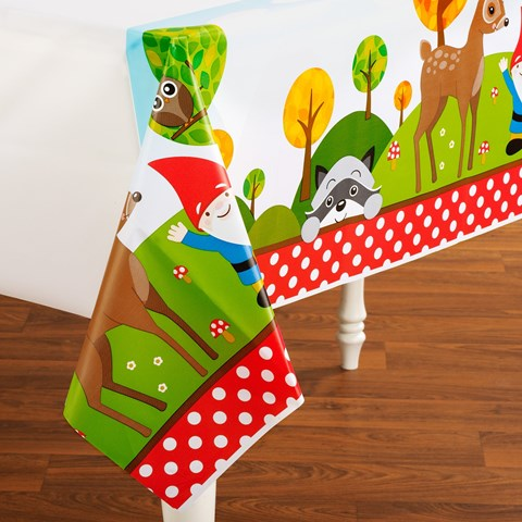 Woodland Gnome Plastic Tablecover