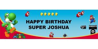 Super Mario Bros. - Yoshi Personalized Vinyl Banner