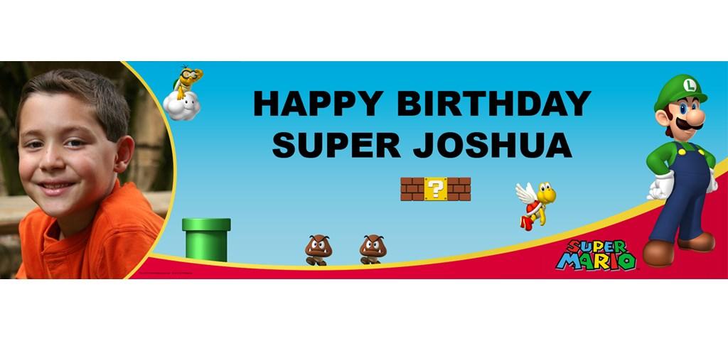 Super Mario Bros. - Luigi Personalized Photo Banner