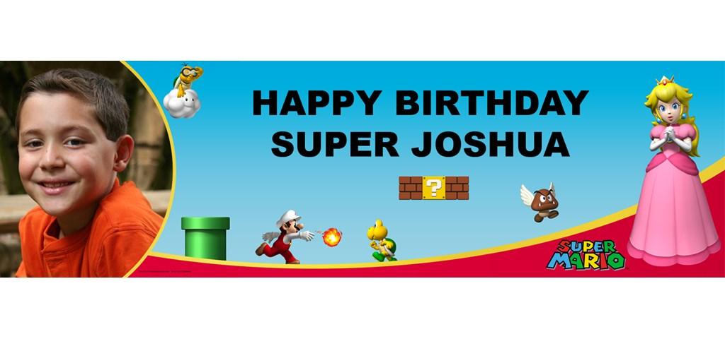 Super Mario Bros. - Princess Peach Personalized Photo Banner