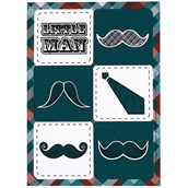 Little Man Mustache Sticker Sheets