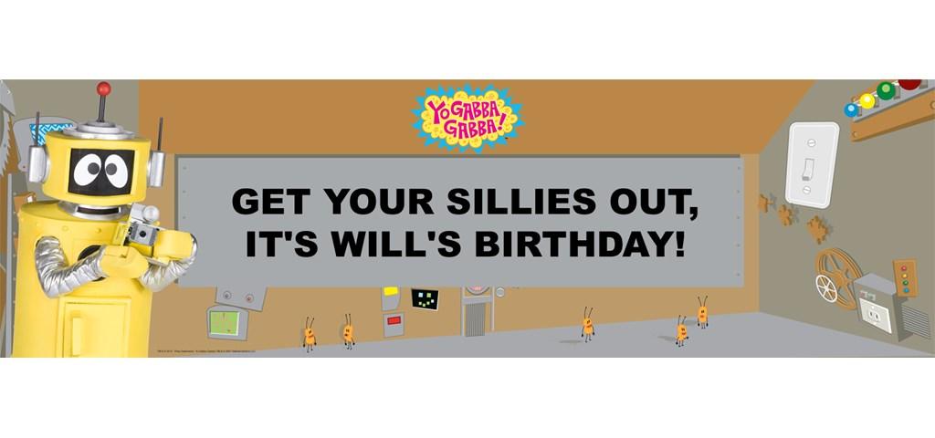 Yo Gabba Gabba! - Plex Personalized Birthday Banner