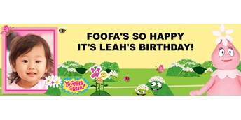 Yo Gabba Gabba! - Foofa Personalized Photo Vinyl Banner