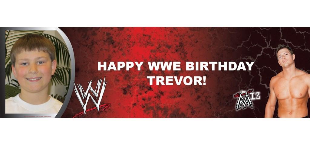 WWE - The Miz Personalized Photo Banner