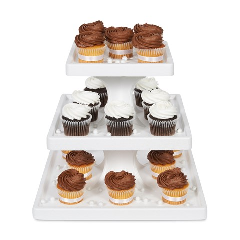 3 Tier Square Cupcake Stand