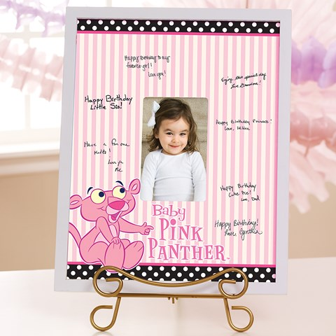 Baby Pink Panther Framed Signature Matte