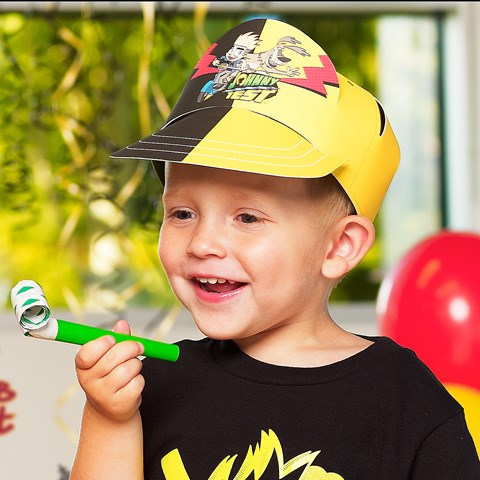 Johnny Test Glow in the Dark T-Shirt and Trucker Hat Party Set