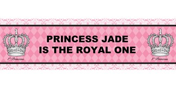 Elegant Princess Damask Personalized Vinyl Banner