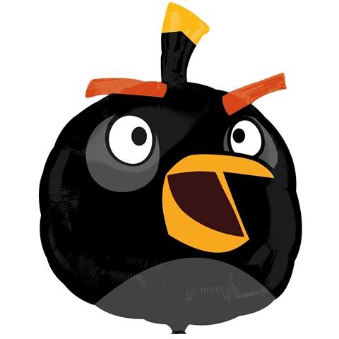 """Angry Bird Black Bird 23"""" Foil Balloon"""