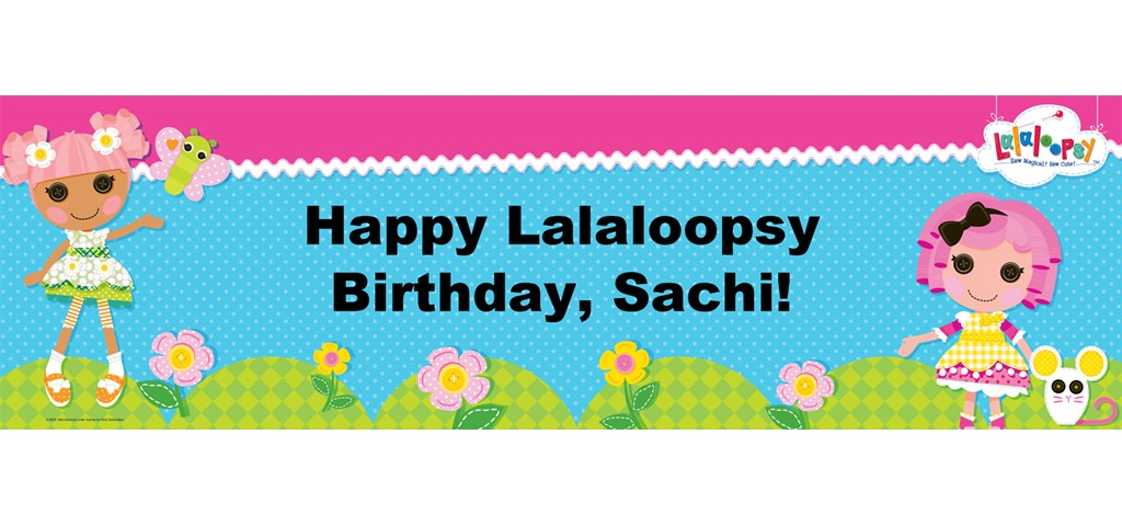 Lalaloopsy Personalized Banner