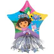 Dora Birthday Star Balloon Centerpiece