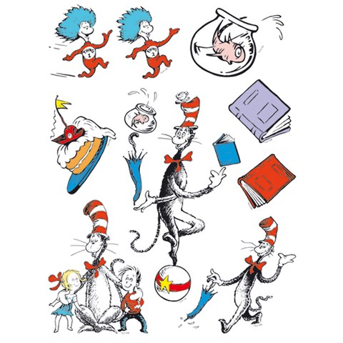 Dr. Seuss Cat in the Hat Window Clings