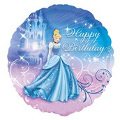 Disney Cinderella Happy Birthday Foil Balloon