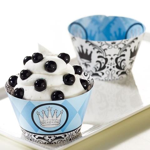 Elegant Prince Damask Reversible Cupcake Wrappers