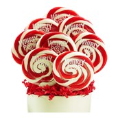 Red and White Whirly Pops