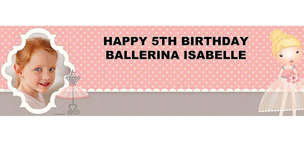 Ballerina Tutu Personalized Photo Banner