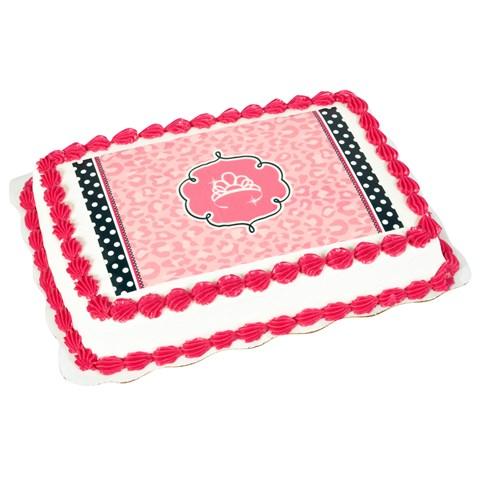Diva Zebra Print Edible Icing Cake Topper