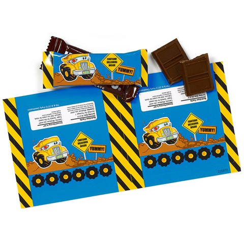 Construction Pals Small Candy Bar Wrappers