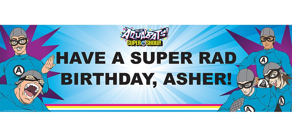 The Aquabats! Supershow! Personalized Banner
