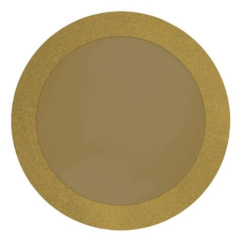"""Gold Glitz 14"""" Round Placemats (8)"""