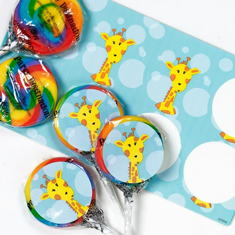 Safari Friends Lollipop Favor Kit