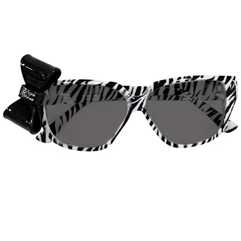 Zebra Print Nerd Glasses with Bow