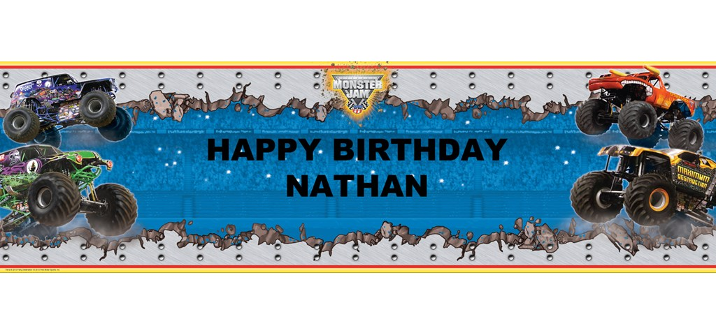 Monster Jam 3D Personalized Banner