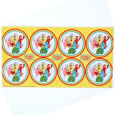 Yo Gabba Gabba! Large Lollipop Sticker Sheet