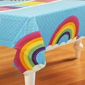 Rainbow Wishes Plastic Tablecover