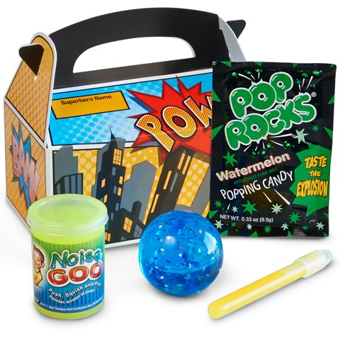 Superhero Comics Filled Party Favor Box