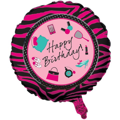Pink Zebra Boutique Foil Balloon