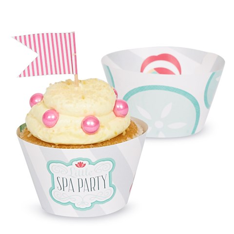 Little Spa Party Reversible Cupcake Wrappers