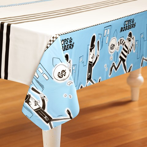 Cops and Robbers Party Plastic Tablecover