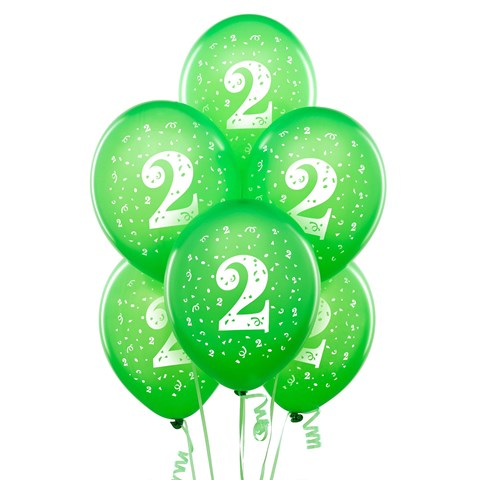 Pearl Lime Green with #2 Matte Balloons