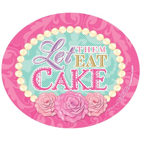 Let Them Eat Cake Stickers