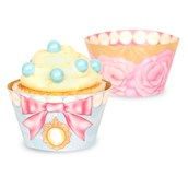 Let Them Eat Cake Reversible Cupcake Wrappers