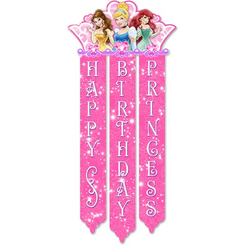 Disney Very Important Princess Dream Party Birthday Banner