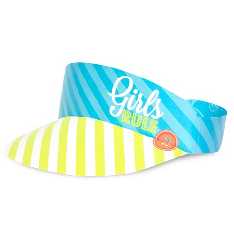 Girls Only Party Paper Visor Hats