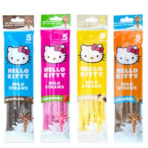 Hello Kitty Milk Straws