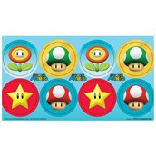 Super Mario Party Small Lollipop Sticker Sheet