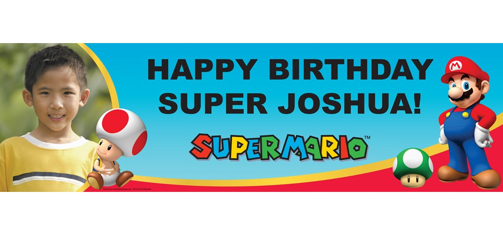 Super Mario Party Personalized Photo Banner